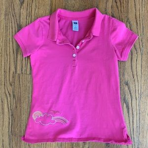 GAP PINK POLO SHIRT With EMBROIDERED EMBELLISHMENT